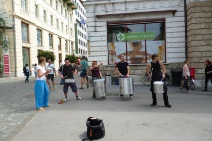 Street performance Ljubljana